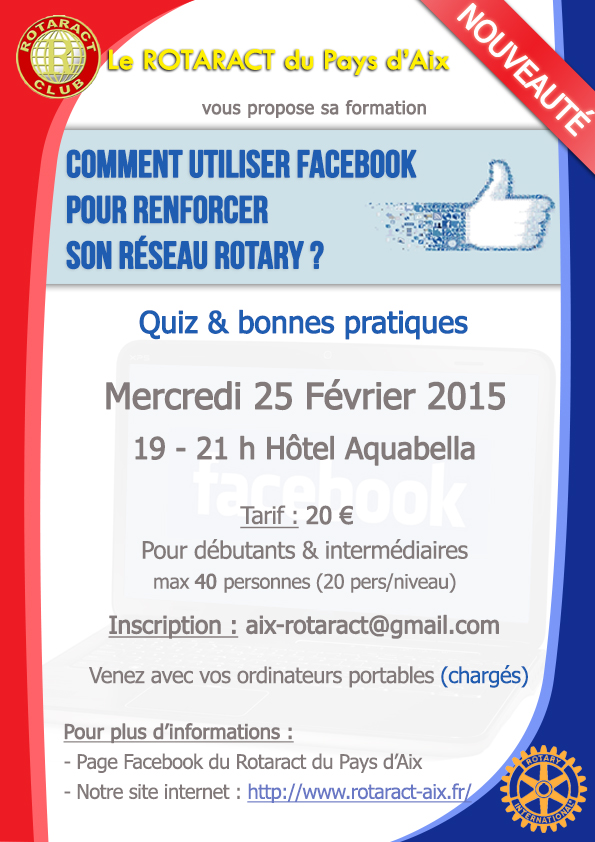 Affiche Formation Facebook Rotaract Aix