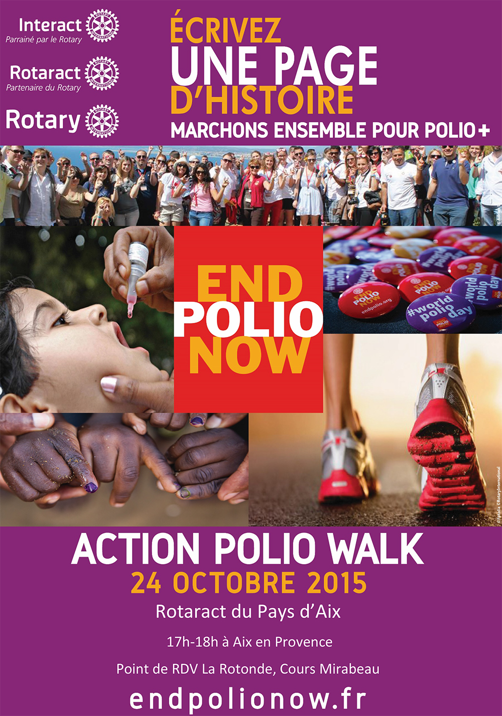 Polio Walk 24oct- Flyer Rotaract Aix